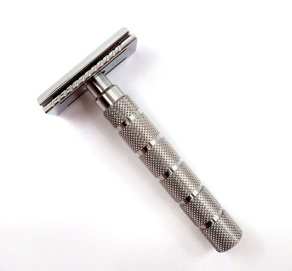 Alpha Brush & Shaving Co. -Outlaw Stainless Steel Safety Razor