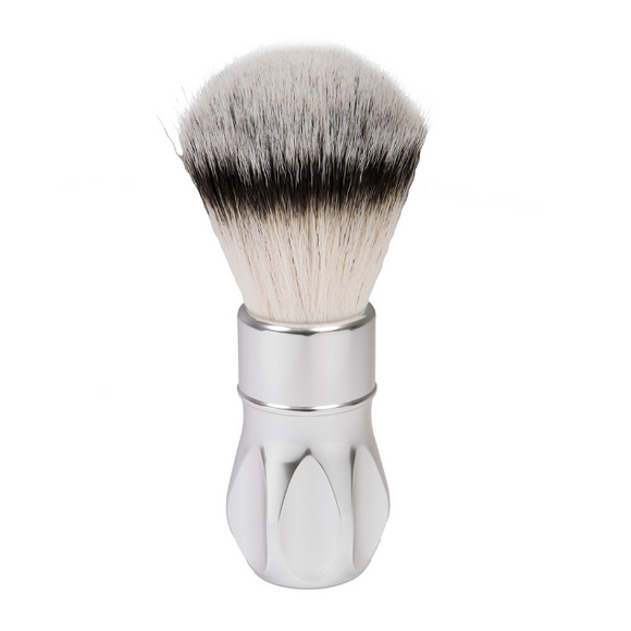 Alpha Brush & Shaving Co. - Outlaw V2 26mm Matte Silver Shaving Brush