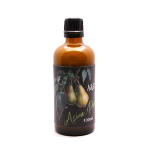 From A&E  Following up on our enormous success of Asian Plum, we have created a scent which may very well surpass the love of The Plum. Asian Pear has been in the works for several months and offers a superb blend of notes, familiar to its cousin, yet completely different. A bit less floral and sweet, but shares some of the same magnificent characteristics. The beautiful Pear note is the standout, with some dried fruit notes, tonka, tobacco and wood notes, with a hint of coffee & florals.