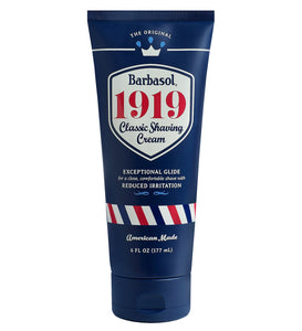 Barbasol - 1919 Classic Shaving Cream - 6 Ounces  In 1919, Barbasol invented the very first no brush, no lather, no rub-in shaving cream. Today, we celebrate this milestone with a fresh take on THE ORIGINAL!
