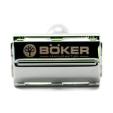 Boker - Butterfly Safety Razor  The safety razor was designed with a butterfly mechanism for fast and easy blade changes. The razor head opens by rotating the endcap on the grip, giving access to the blade. All components are made from zinc die-castings and have a premium chrome-plated finish. Matches all classic razor blades.