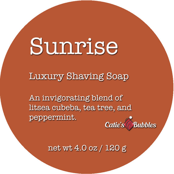 Catie's Bubbles - Sunrise - Luxury Shaving Soap 4oz