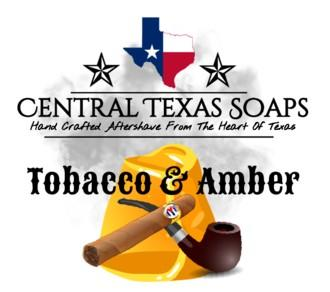 Central Texas Soaps - Aftershave Splash -Tobacco & Amber