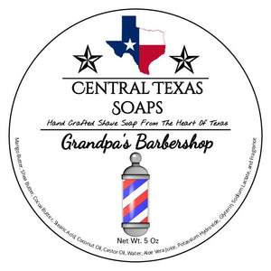 Central Texas Soaps - Shave Soap - Grandpa's Barbershop