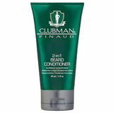 Clubman 2-in-1 Beard Conditioner is a face moisturizer and beard conditioner in one. Clubman redefines effective beard grooming with this condition facial moisturizer and beard conditioner. This conditioner is formulated with a special blend of coconut oil, soy protein and panthenol while it does double duty, conditioning and soothing skin while leaving beard soft and frizz free. For added control use with Clubman Beard Balm.