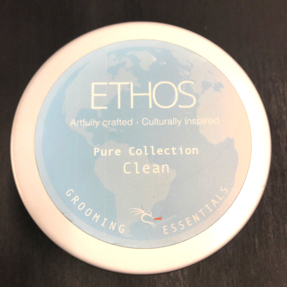 Ethos Grooming Essentials - Premium Shave Soap - Clean - 4oz  Now in 4 oz container.  Pure Collection  Clean Shave Soap  4 oz.  EOS Complex   Earth  - Ocean - Science