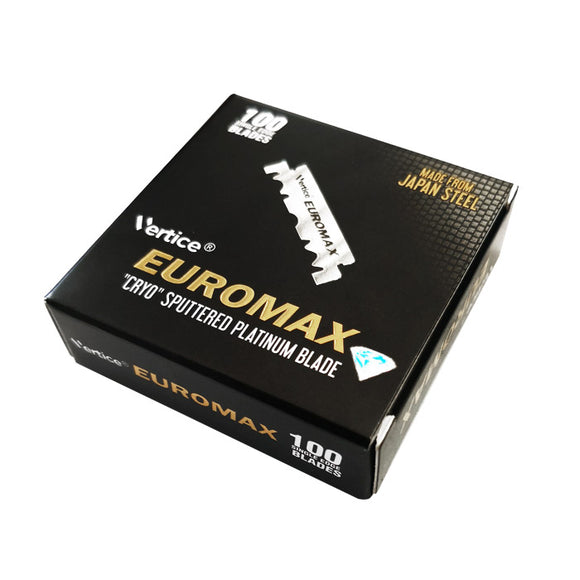 Euromax Cryo Sputtered Single Edge Razor Blades, Box Of 100 Half Blades