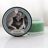 The Camelot Extro shaving soap comes in an elegant and robust glass jar. Designed with patchouli root and pink lily of the valley, it brings an extraordinary scent to your skin. The floral and spicy mixture makes shaving soap, a light olfactory marriage.