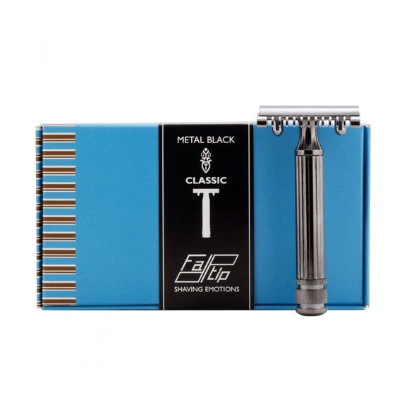 Fatip Grande Open Comb Double Edge Safety Razor - Gun Metal Black - 42109