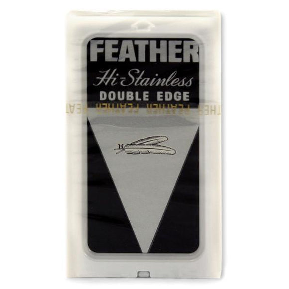 Feather - Hi-Stainless Double Edge Razor Blades - 5 Pack