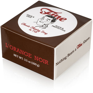 Fine Accoutrements - Classic Shaving Soap Tub - L'Orange Noir