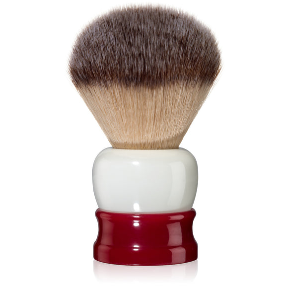 Fine Accoutrements - Stout Shaving Brush - Red & White