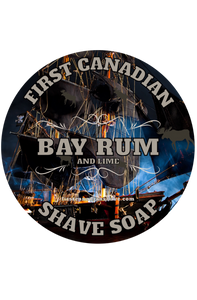 First Canadian Shave - Tallow Shaving Soap - Bay Rum & Lime