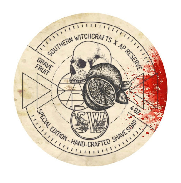 Southern Witchcrafts - APR Collaboration - Shave Soap - GraveFruit