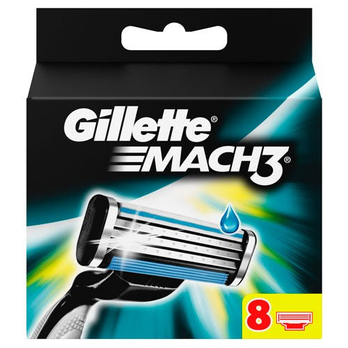 Gillette - Mach 3 Razor Blade Refill Cartridges -  - 8 Pack