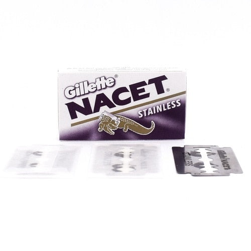 Gillette - Nacet Stainless Double Edge Safety Razor Blades - Pack of 5 BladesGillette - Nacet Stainless Double Edge Safety Razor Blades - Pack of 5 Blades
