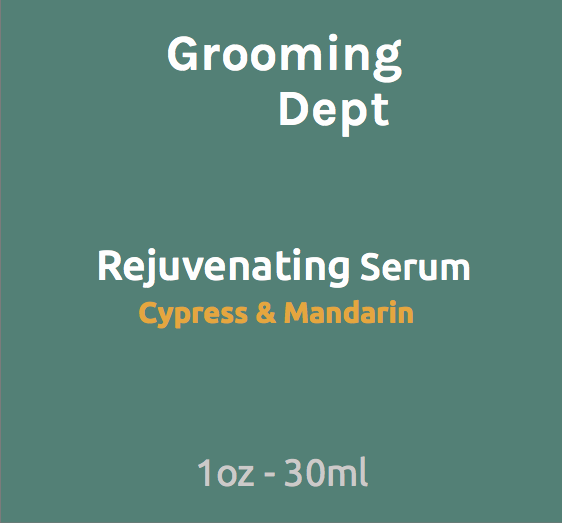 Grooming Dept. - Rejuvenating Serum - Cypress & Mandarin