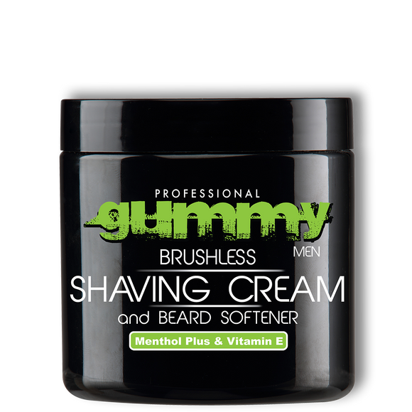 Gummy Shaving Cream - Menthol Plus & Vitamin E - Brushless - 10oz