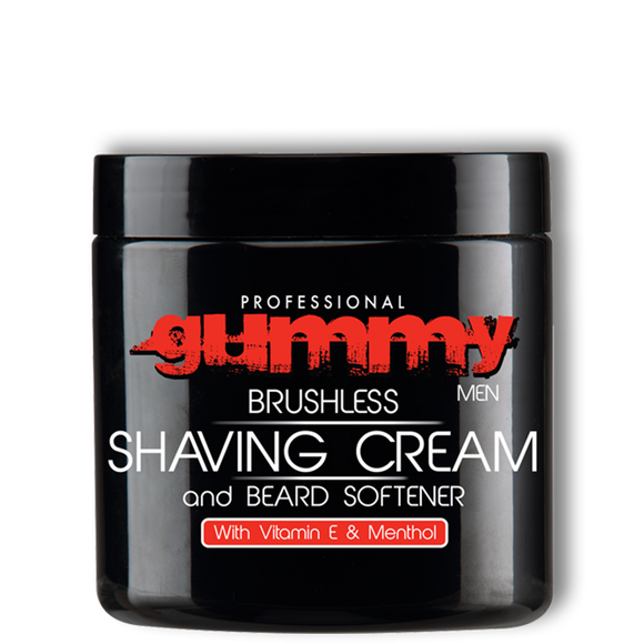 Gummy Shaving Cream - Vitamin E & Menthol - Brushless - 10oz