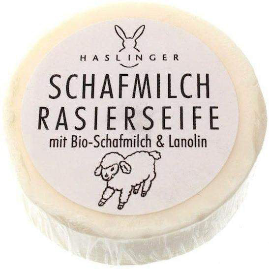 Haslinger Schafmilch Shave Soap with Sheep Milk and Lanolin 60g