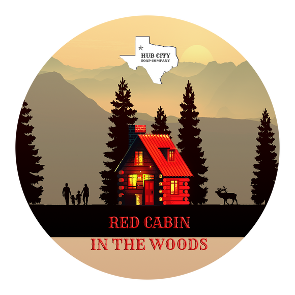 Hub City Soap Company - Shave Soap - Red Cabin in the Woods