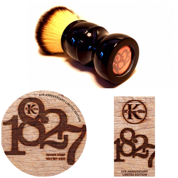 K Shave Worx - 1827 - Soap, Aftershave, and Brush Set