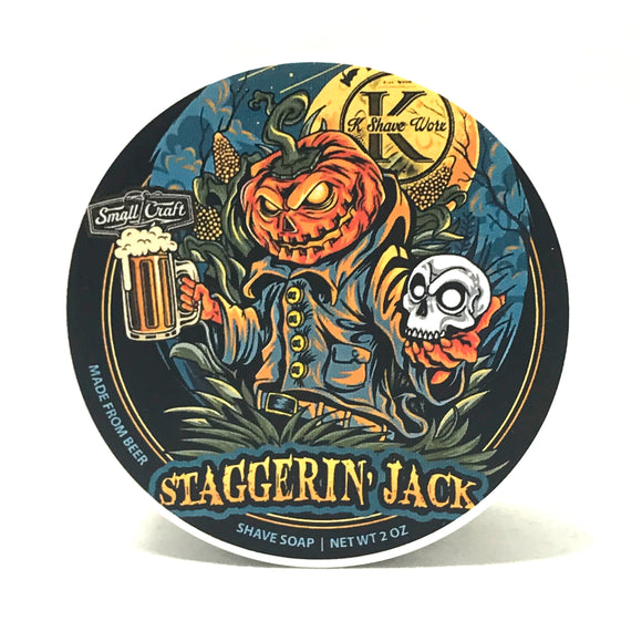 K Shave Worx - Limited Edition Shave Soap - Staggerin Jack - 2oz