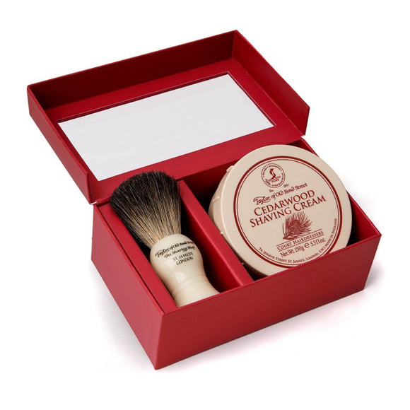 Taylor of Old Bond Street Pure Badger & Cedarwood Gift Box