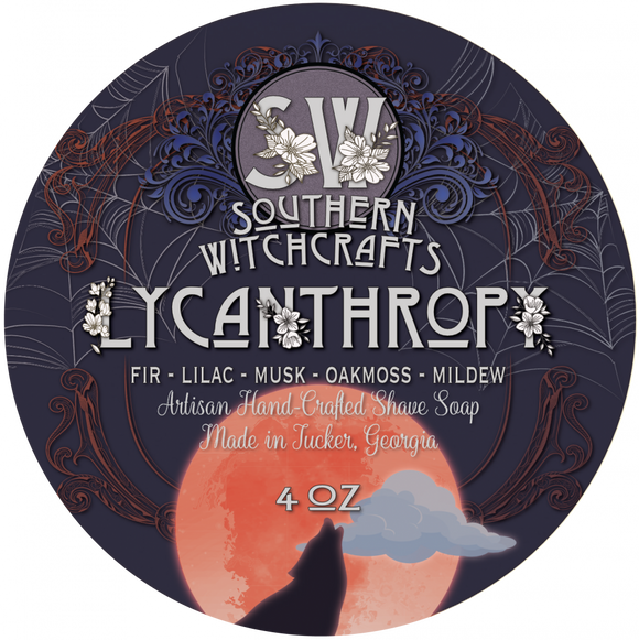 Southern Witchcrafts Shave Soap - Lycanthropy - Vegan