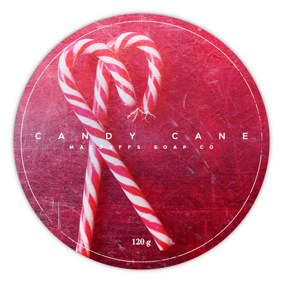 MacDuffs Soap Co. - Shaving Soap - Candy Cane