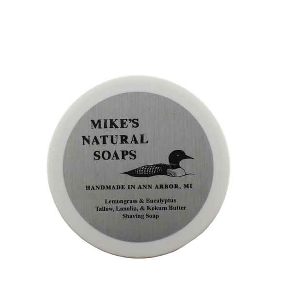 Mike's Natural Soaps -Shaving Soap - Lemongrass & Eucalyptus (EO) Scent