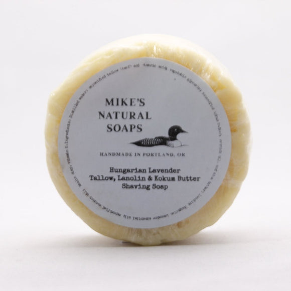 Mike's Natural Shaving Soap Puck - Hungarian Lavender Scent