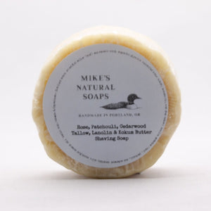 Mike's Natural Shaving Soap Puck - Rose, Patchouli, & Cedarwood Scent
