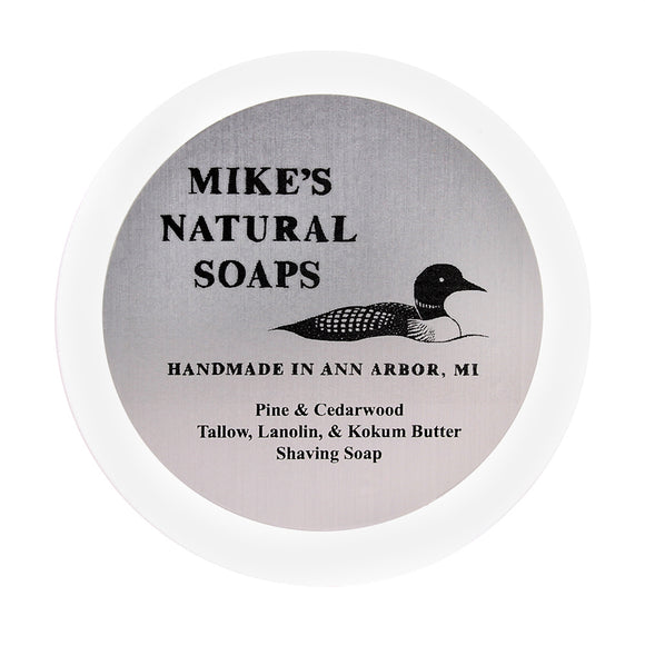 Mike's Natural Soaps -Shaving Soap - Pine & Cedarwood (EO) Scent
