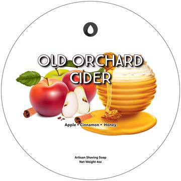 Oleo Soapworks Old Orchard Cider Shaving Soap, 4oz