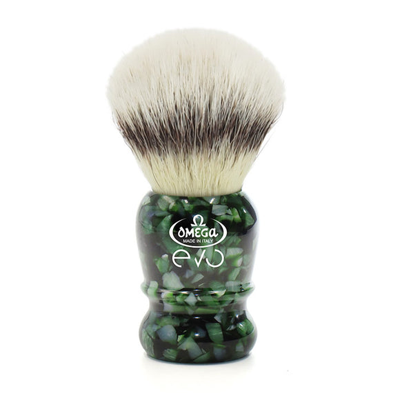 Omega - E1860 Evo Synthetic Fiber Shaving Brush - Special Veteran Edition