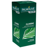 Featuring a traditional masculine barbershop scent, Palmolive for Men Classic Shave Stick gets rave reviews for the quality of its lather and the fabulous shave that follows. Tallow-based, the shave stick contains palm extract for a super smooth and moisturizing cushion. Simply apply to a damp face and let your fingers or a brush create a lubricating lather. Portable and perfect for travel; stash in your toiletry bag and your gym locker to look great wherever you roam.