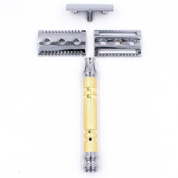 Parker - 69CR Convertible Safety Razor With Open & Closed Comb Plates