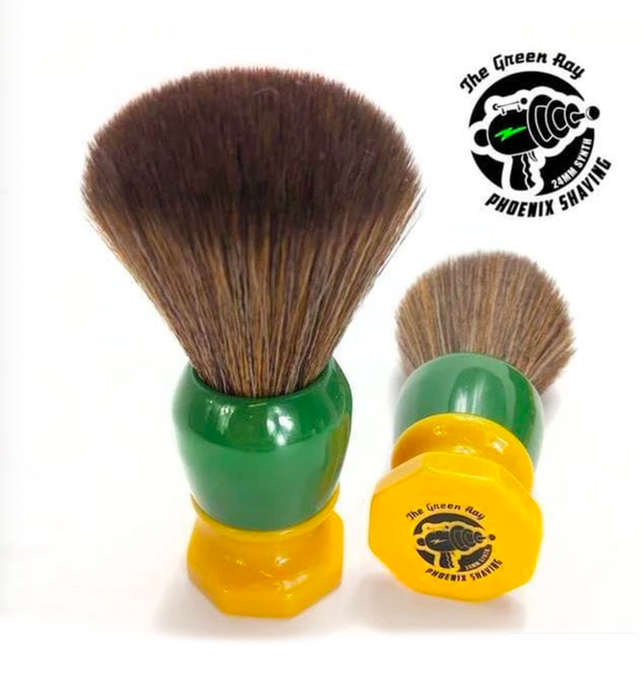Phoenix Artisan Accoutrements - 24mm Hybrid Tribble Synthetic Brush - The Green Ray