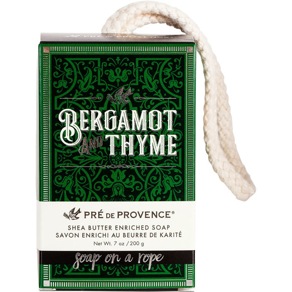 Pre de Provence  - Soap on a Rope - Bergamot & Thyme