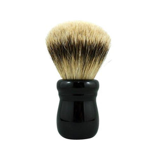 RazoRock Chubby Extra Silvertip Badger Shaving Brush - Black Handle 505  In my humble opinion, this is one of the best face lathering brushes, if not THE BEST, south of $150, in the market.  There, I got that off my chest.  This RazoRock Silvertip brush is extra stuffed and hand tied in Italy.  The solid, build to last, resin handle is lathe turned by hand in Italy.