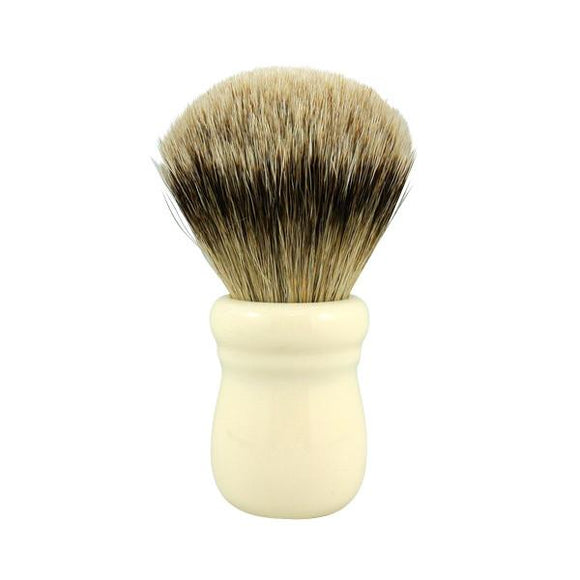 RazoRock Chubby Extra Silvertip Badger Shaving Brush - Ivory Handle 505  In my humble opinion, this is one of the best face lathering brushes, if not THE BEST, south of $150, in the market.  There, I got that off my chest.  This RazoRock Silvertip brush is extra stuffed and hand tied in Italy.  The solid, build to last, resin handle is lathe turned by hand in Italy.