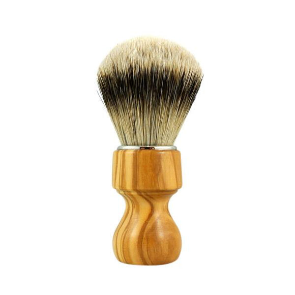 RazoRock Chubby Extra Silvertip Badger Shaving Brush - Olive Wood 506 Handle (506UKnic)  In my humble opinion, this is one of the best face lathering brushes, if not THE BEST, south of $150, in the market.  There, I got that off my chest.  This RazoRock Silvertip brush is extra stuffed and hand tied in Italy.  The handle is hand turned from olive wood with nickel plated finishing ring.