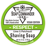 From Soap Commander:  Our Respect scent struts a lovely deep earthiness with a well-balanced, sophisticated respectful kiss of lime that will not only make you feel clean and refreshed but more importantly...respected. Sure to be favorite of summer and all year long. Our Respect scent perfectly combines essential oils of both Patchouli and Lime for a truly refreshing experience that ensures you ready to face the day full of Respect for yourself and for others.