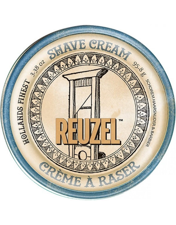Reuzel - Shave Cream 3.38oz  Reuzel Shave Cream is a highly concentrated, water activated, rich and super-slick formula that helps give you a nick-free, smooth-skin shave.  Reuzel Shave Cream, try it once and you'll be hooked for life.