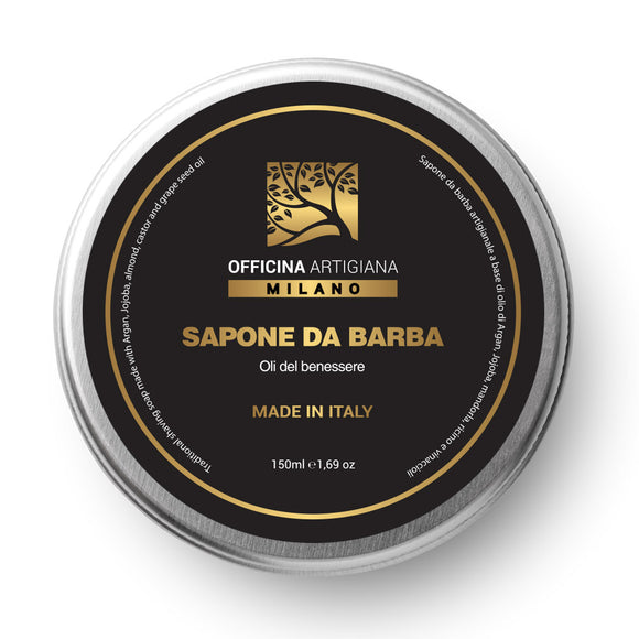 Officina Artigiana - Shaving Soap 150ml - 5 Wellness Oils