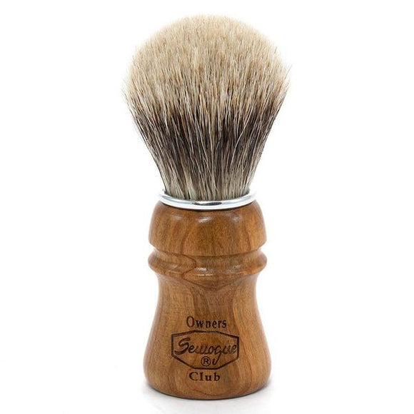 Semogue Owners Club - 2 Band Badger -Cherry Wood  Shaving Brush