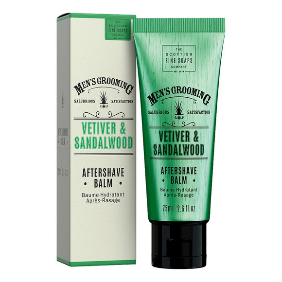 Scottish Fine Soaps - Vetiver & Sandalwood - Aftershave Balm 75ml