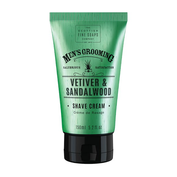 Scottish Fine Soaps - Vetiver & Sandalwood - Shave Cream 150ml