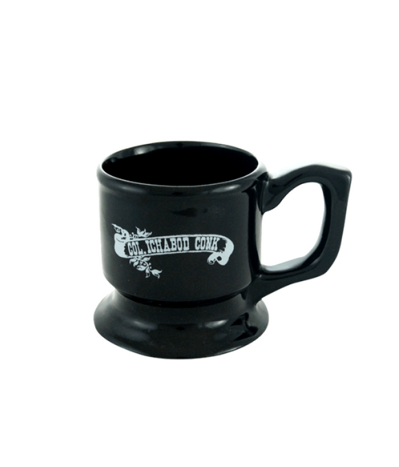 Col. Conk Pedestal Shave Mug With White Banner